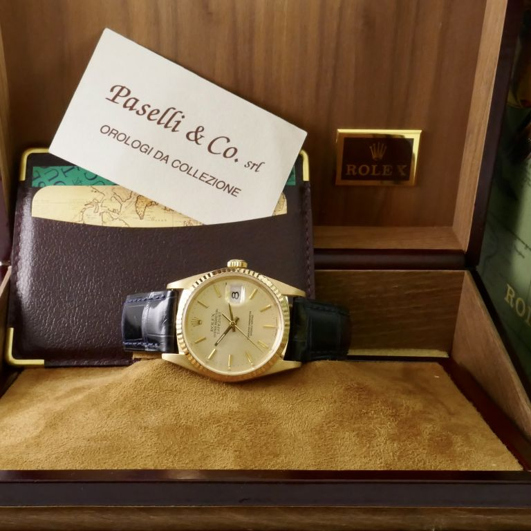 Rolex Oyster Perpetual GMT-MASTER Ref. 1675 18kt Yellow Gold Year 1977